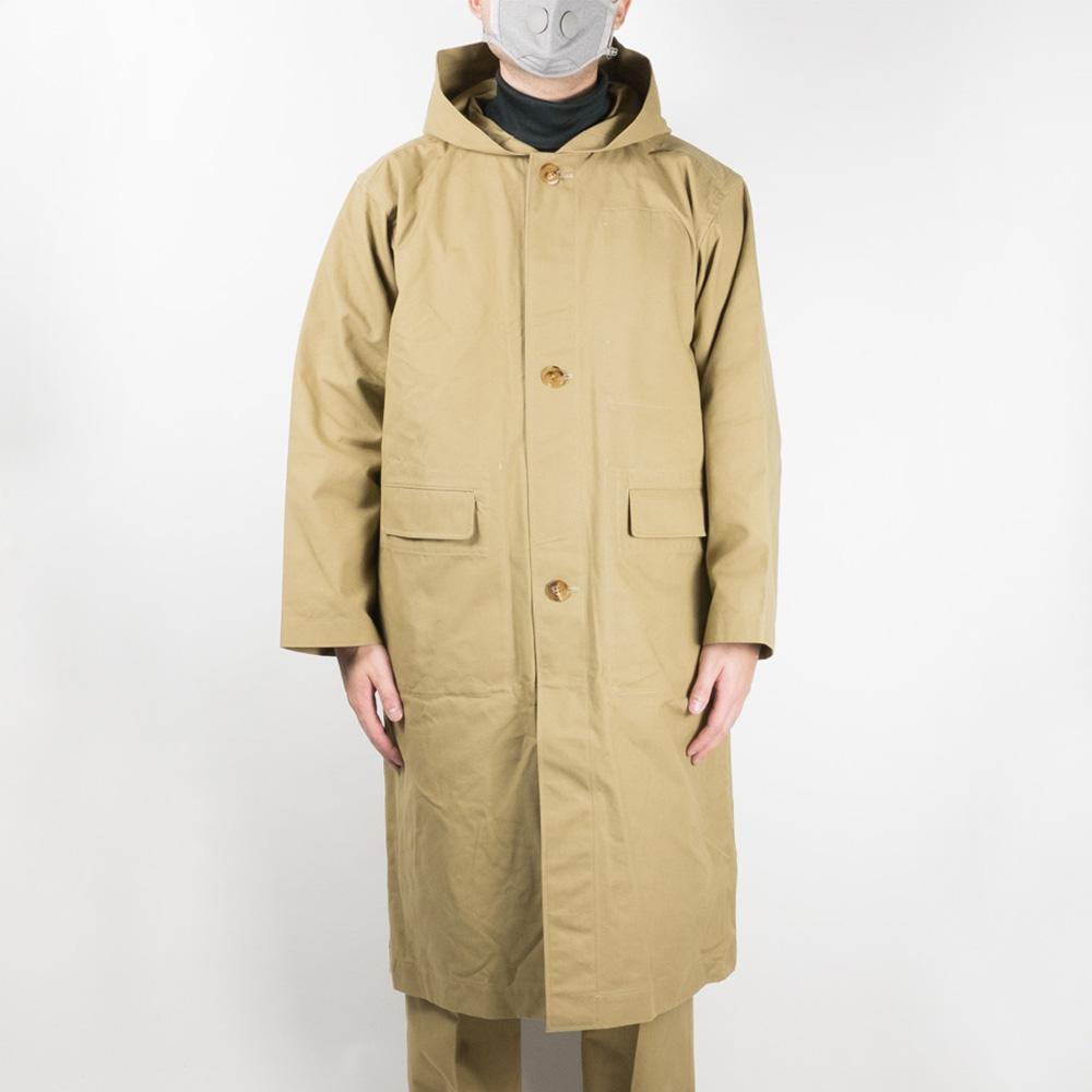 IKIJI Hooded Coat - Beige