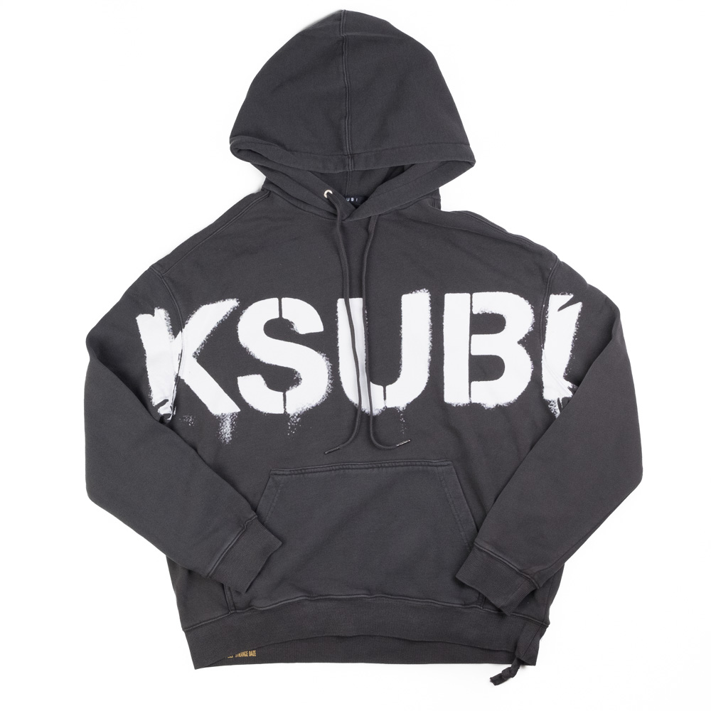 Ksubi Stencil Biggie Hoodie - Charcoal