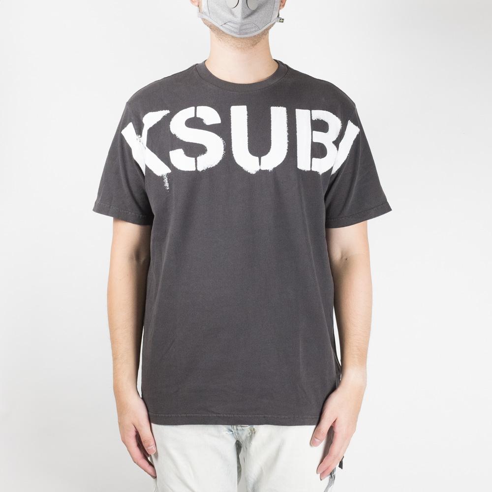 Ksubi Stencil Kash Short Sleeve Tee - Charcoal