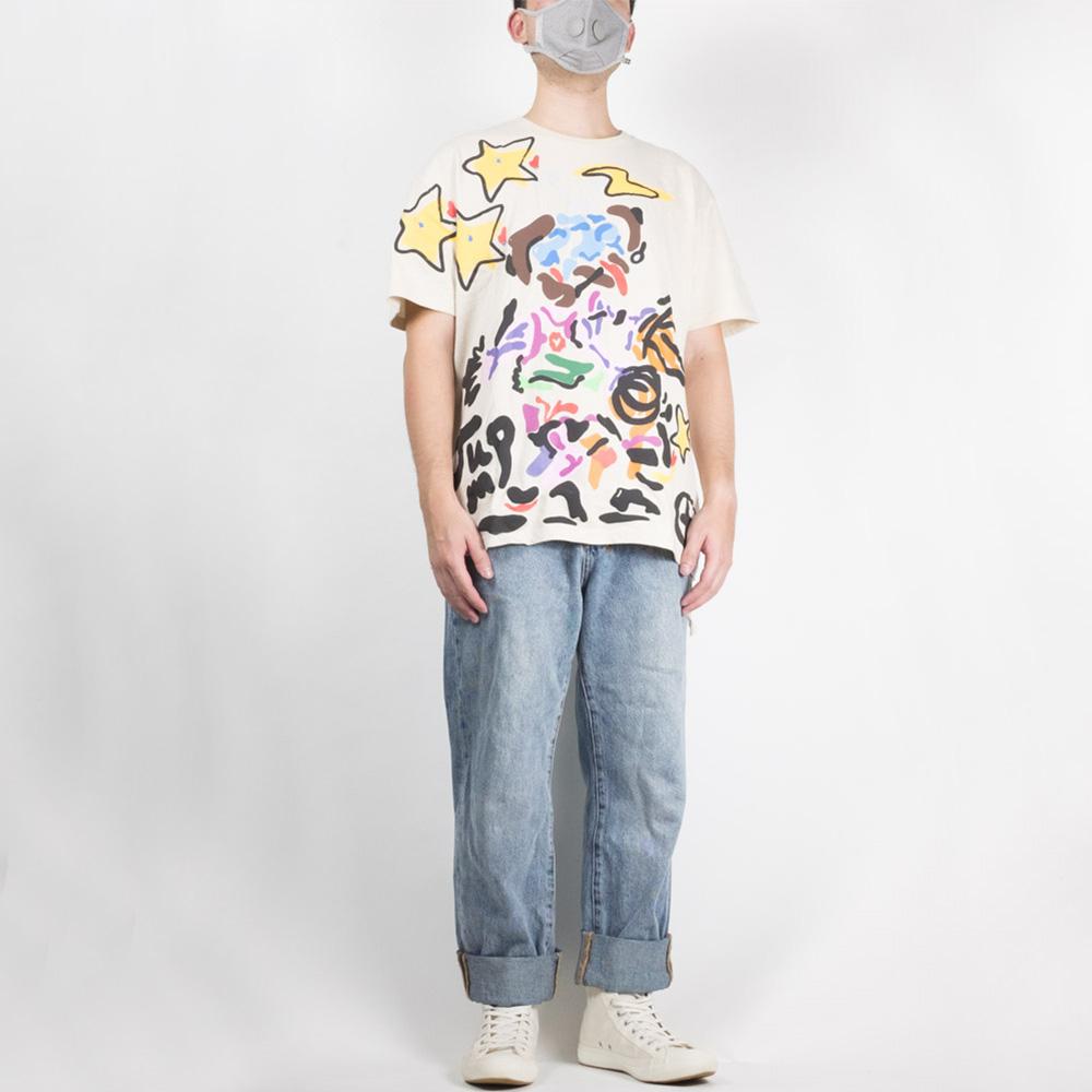 Ksubi x HidjiWorld & Don't Watch TV Jump Biggie Short Sleeve Tee - Ecru