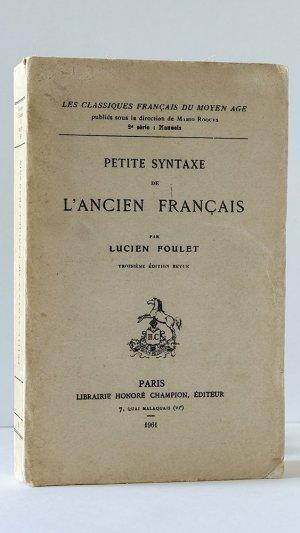 Petite syntaxe de l'ancien francais