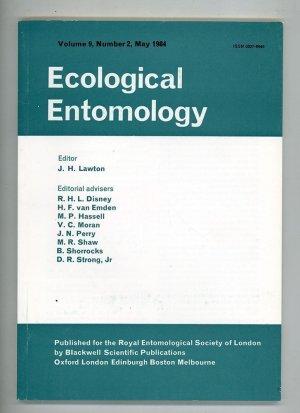 Ecological Entomology Volume 9, Number 2, May 1984