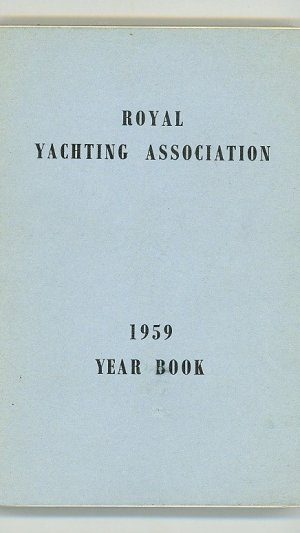 Royal Yachting Association 1959 Year Book
