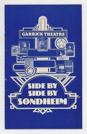 Side By Side By Sondheim – Programme. No. 27 December 1977