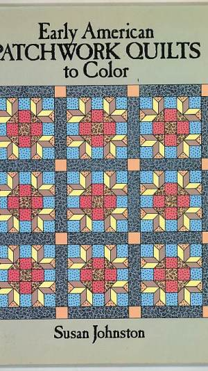 Early American Patchwork Quilt to Color