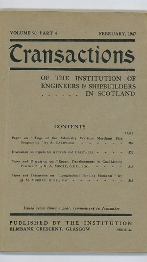 Transactions of the Institution of Engineers & Shipbuilders in Scotland Volume 90 Part 4