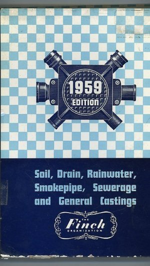 Cast Iron Soil Drain and General Castings Revised 1959 Edition