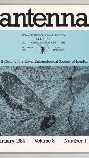 Antenna Volume 8 Number 1 January 1984 Bulletin of the Royal Entomological Society of London