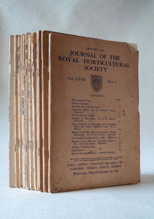 Journal of the Royal Horticultural Society Vol. LXVII