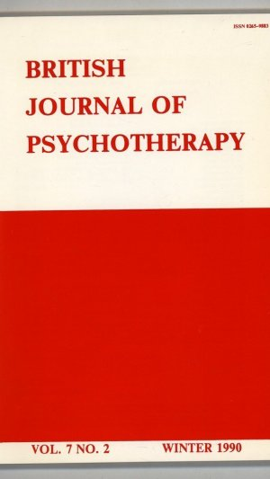 British Journal of Psychotherapy Volume 7 No.2 Winter 1990