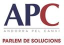 Eslògan emprat per ApC sobre fons blanc.
