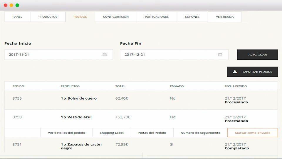 Seguimiento pedidos - Andorra MarketPlace