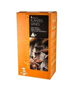 Infusiones Plantes Sanes, anís, menta, manzana, hinojo y pétalos de caléndula 15 bolsas Cafés el Conseller - Andorra MarketPlace