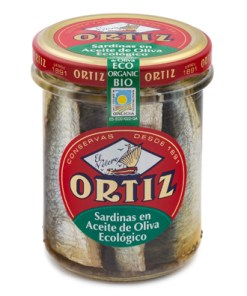 Sardinas en aceite de oliva virgen extra ecológico - A la Antigua - 190grs Ortiz - Andorra MarketPlace