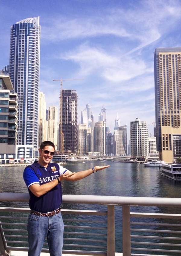 Zona rascacielos Dubái.