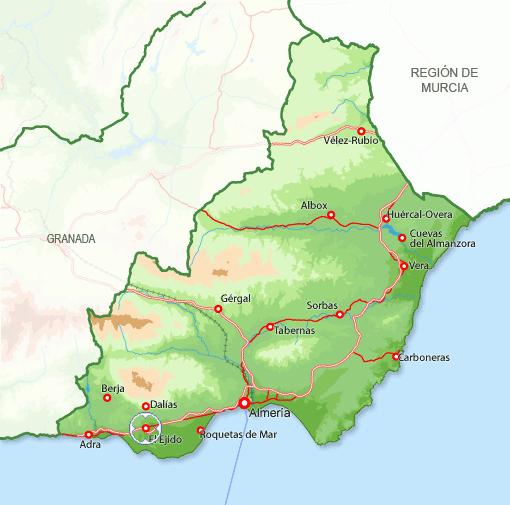 andorreando mapa de provincia Almería