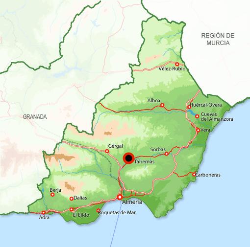 Andorreando Mapa Tabernas