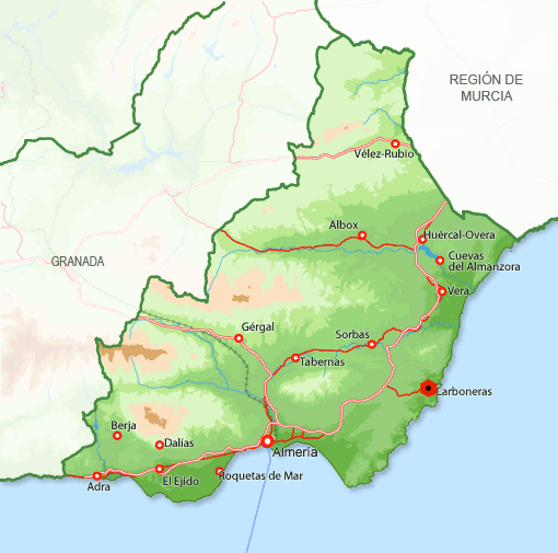 Andorreando Mapa Carboneras