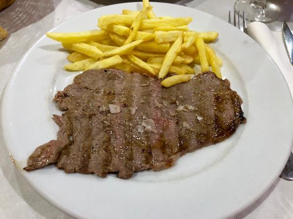 Bistec de ternera, Restaurante Mesón de Irene.