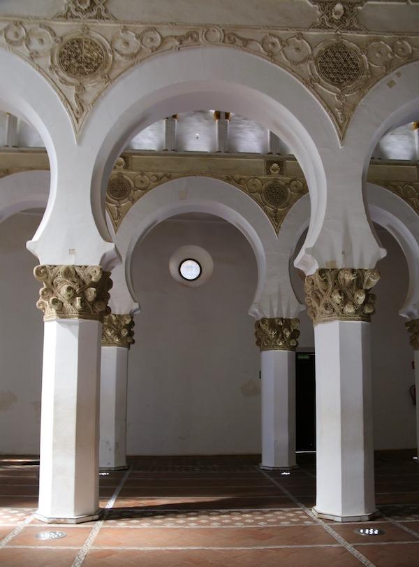 Interior Sinagoga Santa María Blanca
