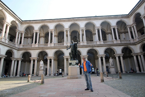 Patio Pinacoteca de Brera