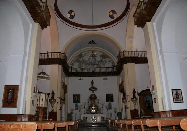 Interior Iglesia San Juan Bautista