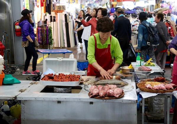 Puesto Comida Mercado Gwangjang