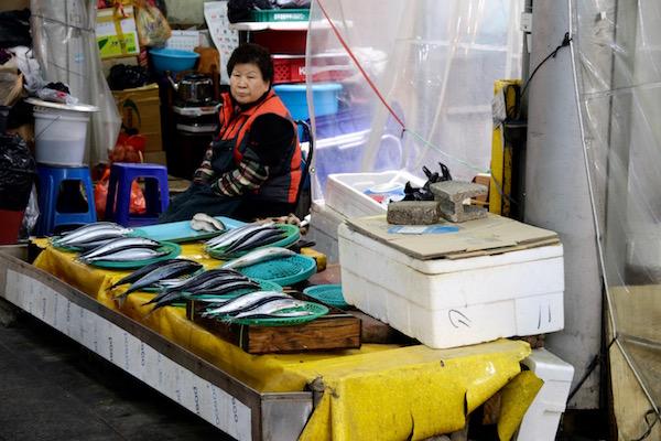 Puesto pescado Mercado Sung Dong Night