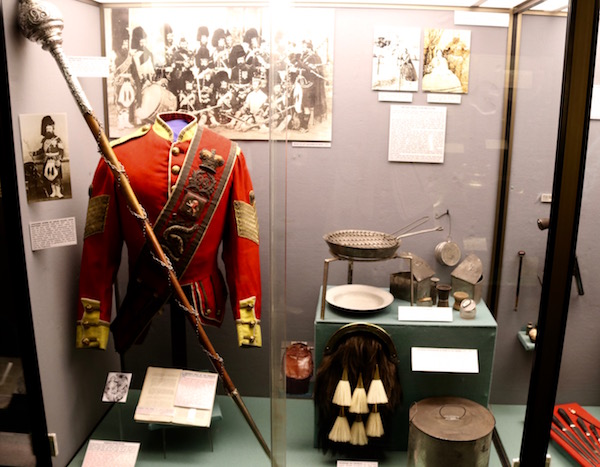 Exposición Museo regimiento británico