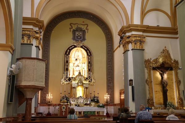 Interior iglesia del Carmen,