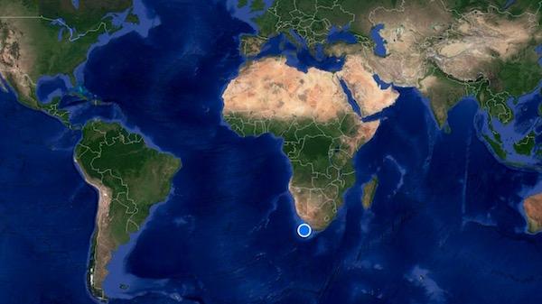 Mapa Sudáfrica