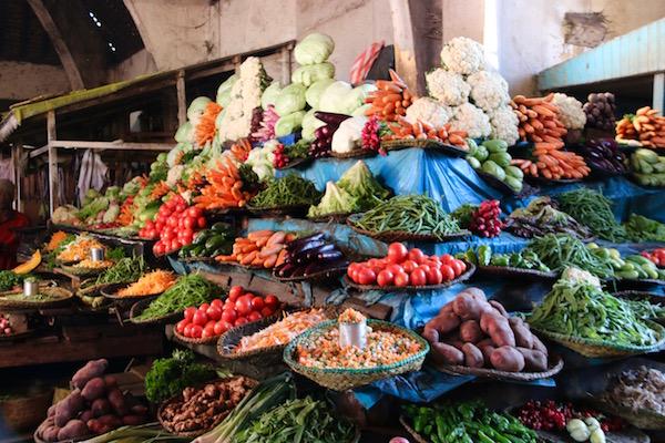 Verduras Mercado Atsena Kely