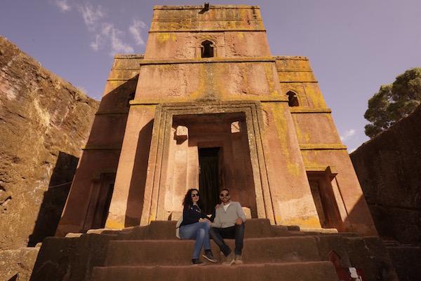 Entrada iglesia de Biet Ghiorgis