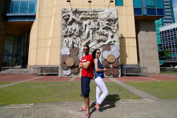 Monumento Medallas Olímpicas de Trinidad y Tobago