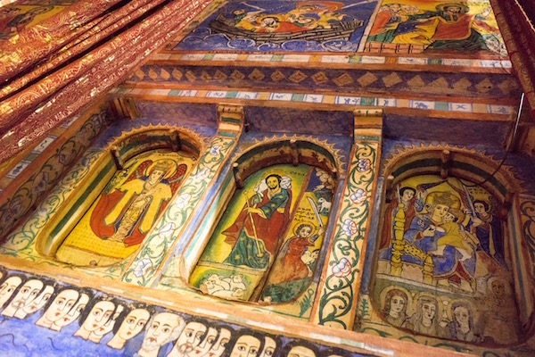 Pinturas Monasterio de Ura Kidane Meret