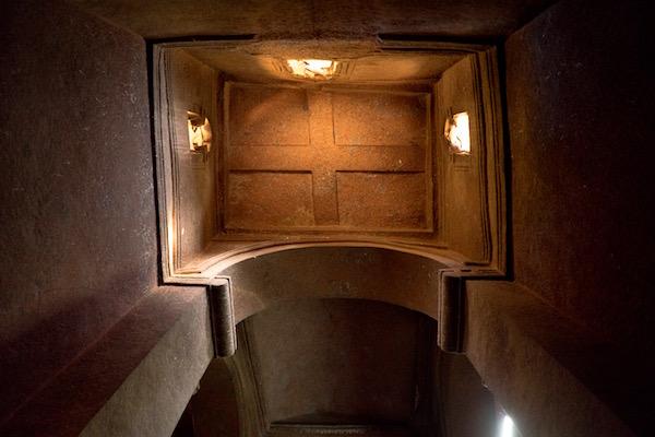 Techo iglesia de Biet Ghiorgis