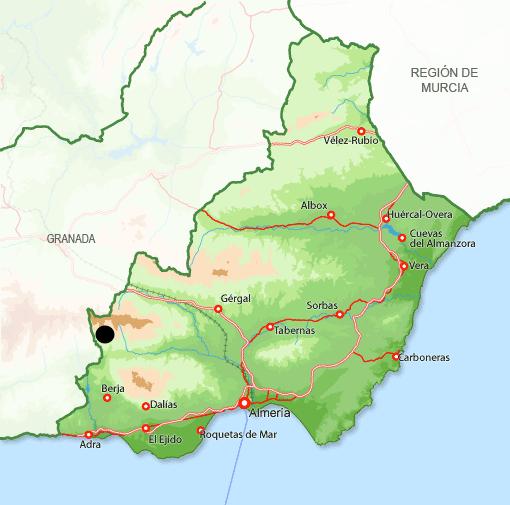 Mapa Bayárcal