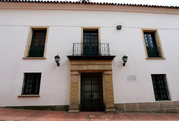 Casa primera sede de la Real Biblioteca Pública.