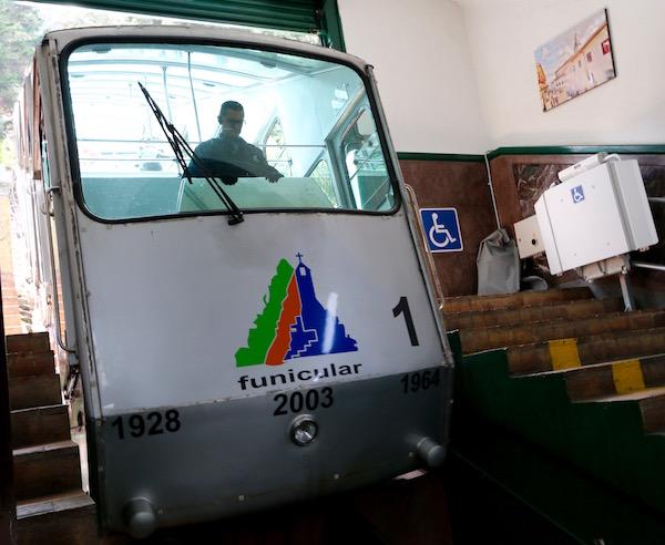 Funicular, cerro de Monserrate.