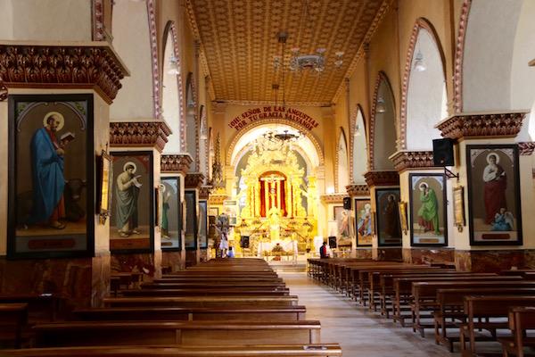 Interior Santuario del Señor de las Angustias.
