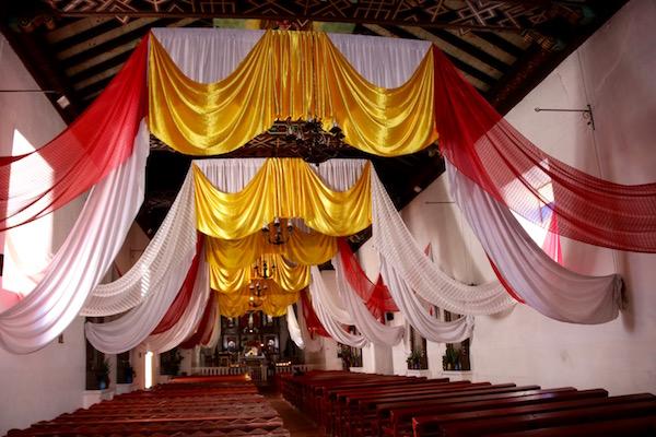 Interior del Templo de Todos Santos Cuchumatán.