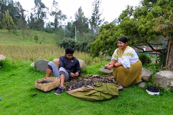 María, Comunidad Indígena de San Clemente, Ecuador.