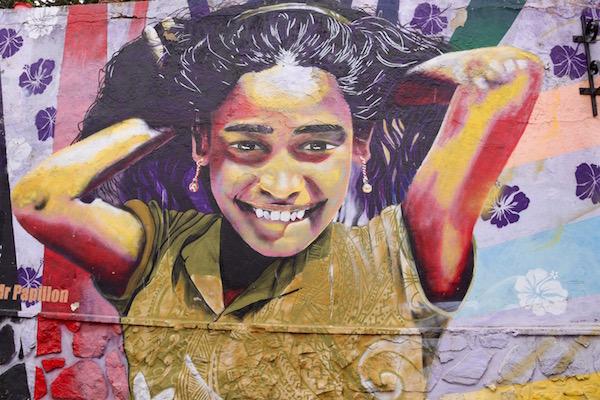 Mural niña.