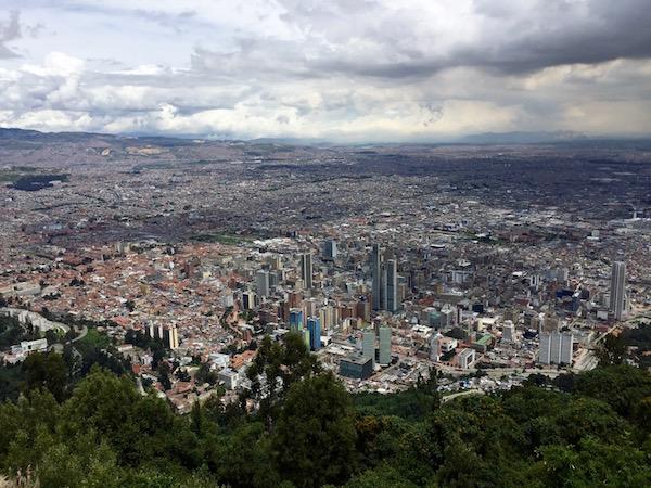 Vistas de Bogotá.