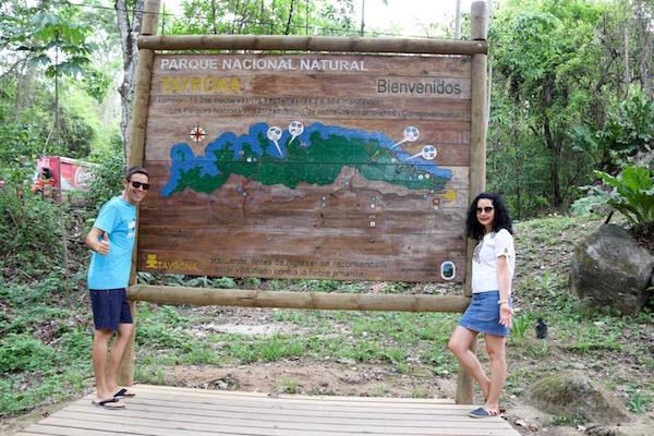 Entrada Parque Tayrona.