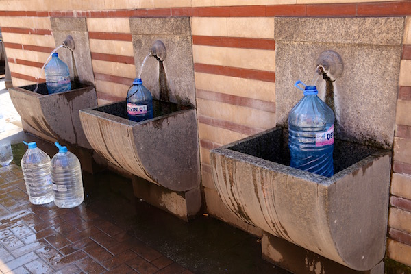 Fuentes de agua potable.
