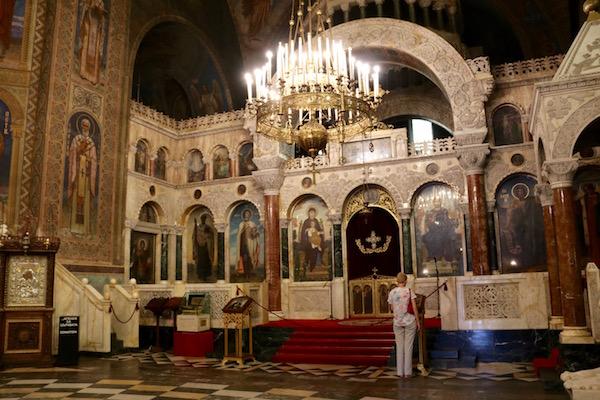 Interior Iglesia Memorial de Alejandro Nevski.