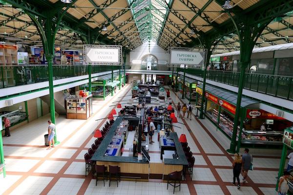 Interior Mercado Central de Sofía.