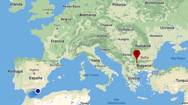 Mapa Bulgaria.