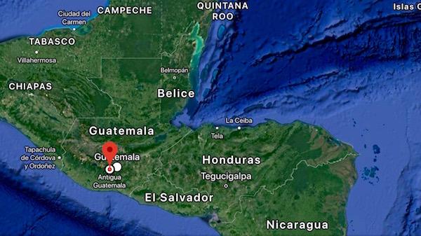 Mapa Guatemala.
